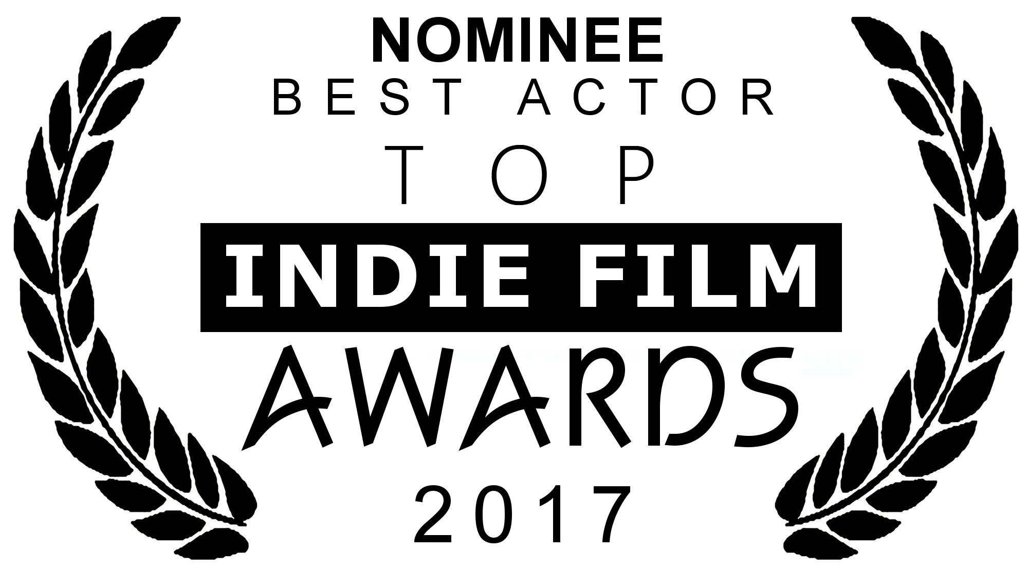 NOMINEE BEST ACTOR STEFANO Top Indie Film Awards 2017